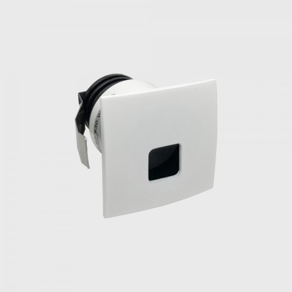 IN WALL S, L38mm, W38mm, H53mm, LED 2,1W, 3000К, белый (01.3853.S2.830.WH)