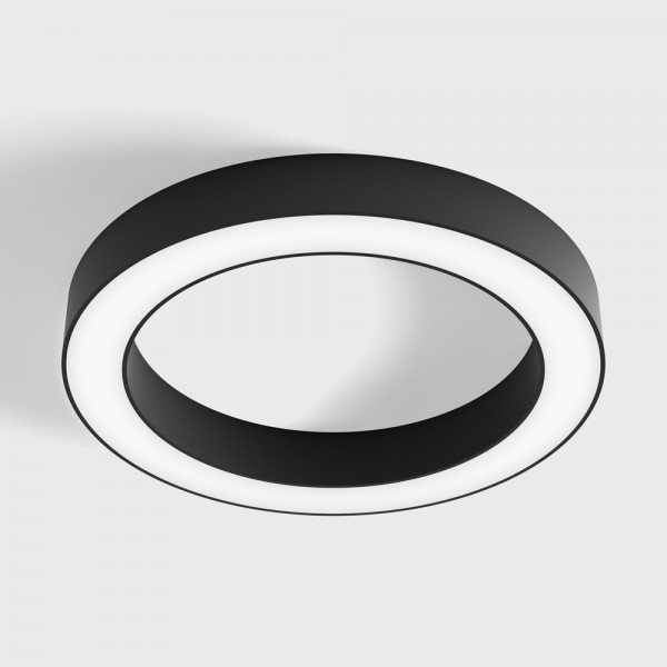 RING M, D390mm, H50mm, LED 25W, 3000К, черный (02.3900.25.930.BK)