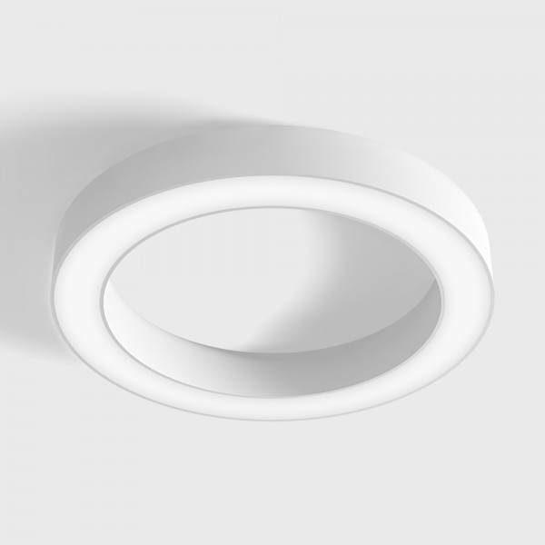 RING M, D390mm, H50mm, LED 25W, 3000К, белый (02.3900.25.930.WH)