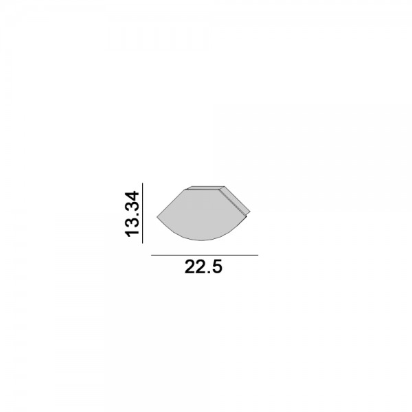 Заглушка Profile  W&T OUT. L 22,5mm, W 13,34mm, h 7mm, пластик, 2шт